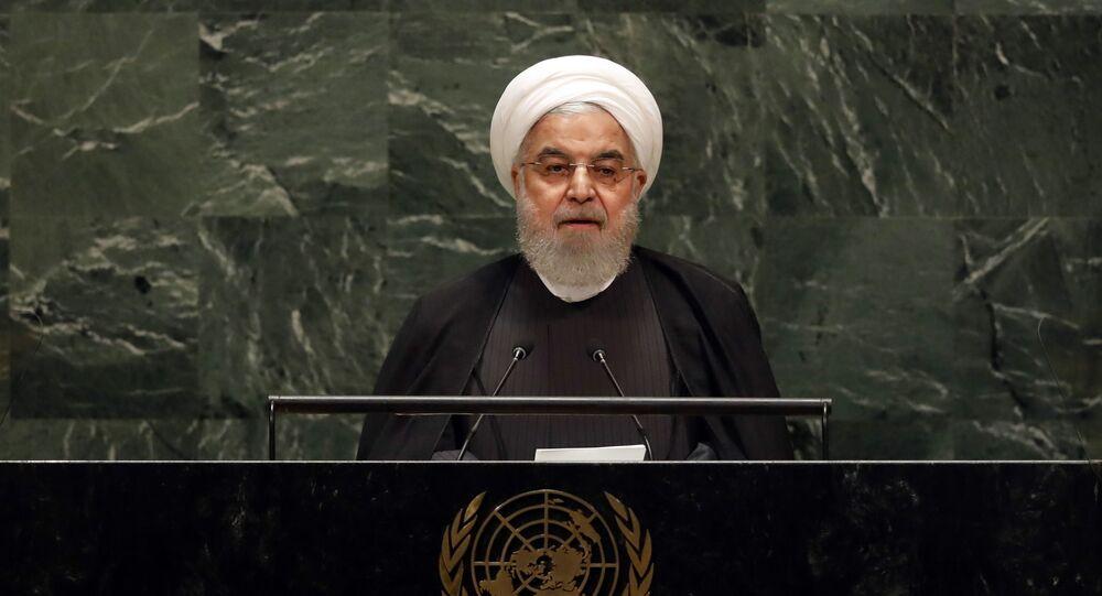 İran Cumhurbaşkanı Ruhani Birleşmiş Milletler Genel Kurulu'nda konuştu.