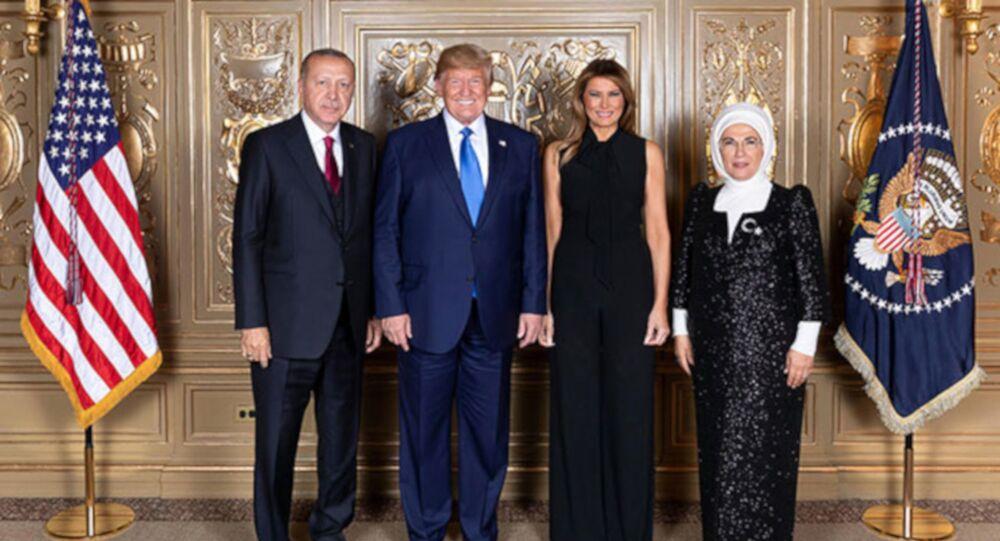 Cumhurbaşkanı Erdoğan ve Trump yemekte bir araya geldi
