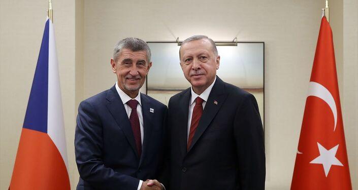 Türkiye Cumhurbaşkanı Recep Tayyip Erdoğan, Birleşmiş Milletler (BM) 74'üncü Genel Kurul görüşmeleri için bulunduğu New York'ta, Çekya Başbakanı Andrey Babiş (solda) ile görüştü.