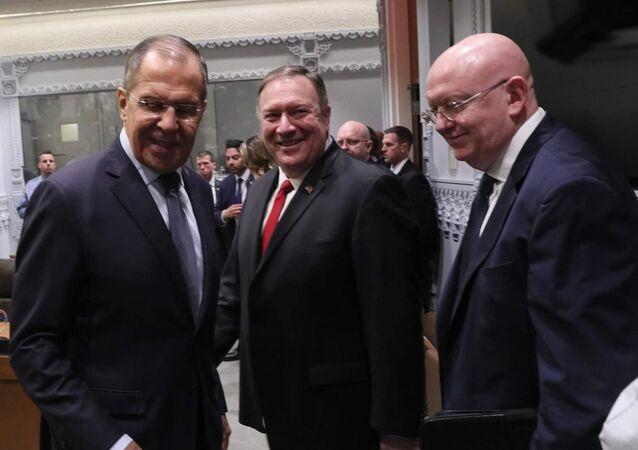 Lavrov ile Pompeo görüştü