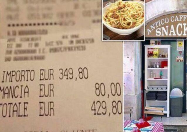 Roma'da turistlere 'iki tabak makarna ve su için 2700 TL hesap'