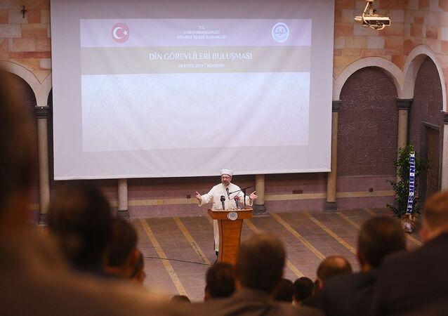 Nevşehir'de din görevlileriyle bir araya gelen Ali Erbaş