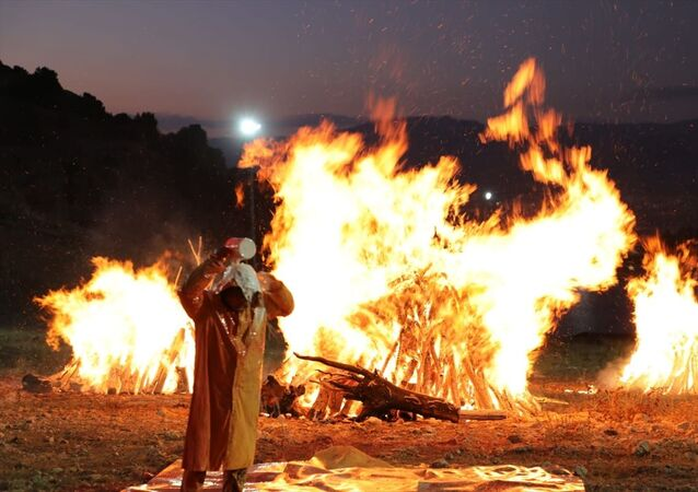 Erzincan Binali Yıldırım Üniversitesi Güzel Sanatlar Fakültesi Dekanı Prof. Dr. Mehmet Kavukçu, ateşin insanların toplanması ve birlikteliği temsil ettiğini göstermek ve birlikteliğe dikkati çekmek için Ergan Dağı'nda kamp ateşi yaktı, üzerine kovayla boya döktü.