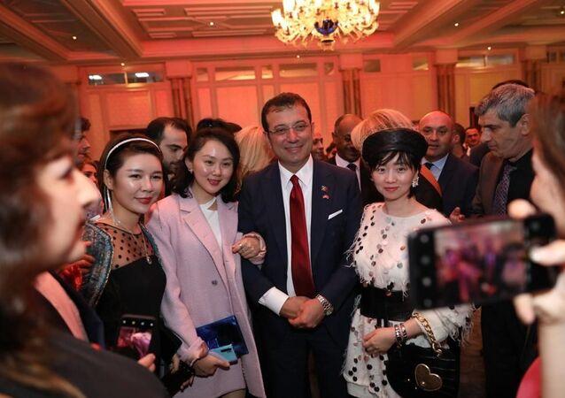 İBB Başkanı Ekrem İmamoğlu Çin Halk Cumhuriyeti'nin 70'nci Kuruluş Yıldönümü resepsiyonuna katılarak bir konuşma yaptı.