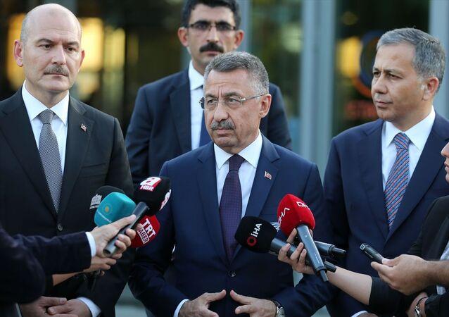 Cumhurbaşkanı Yardımcısı Fuat Oktay, İstanbul AFAD'da açıklamalarda bulundu.