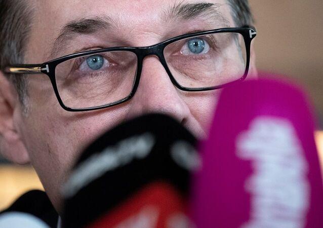 Eski Başbakan Yardımcısı ve aşırı sağcı eski Avusturya Özgürlük Partisi (FPÖ) Genel Başkanı Heinz Christian Strache
