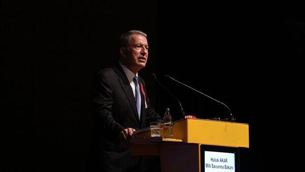 Milli Savunma Bakanı Hulusi Akar, Milli Savunma Üniversitesi 2019-2020 Eğitim ve Öğretim Yılı Açılış Töreni'ne katıldı. - Sputnik Türkiye