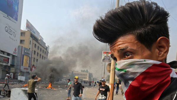 Irak'taki protestolar - Sputnik Türkiye