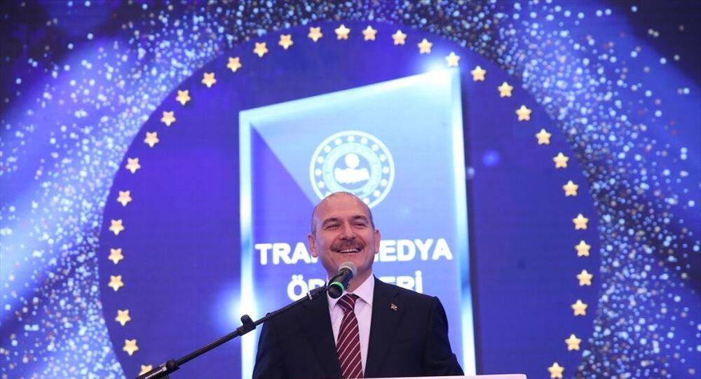 İçişleri Bakanı Süleyman Soylu, Trafik Güvenliği Televizyon Ödülleri Yarışma Programına katıldı.