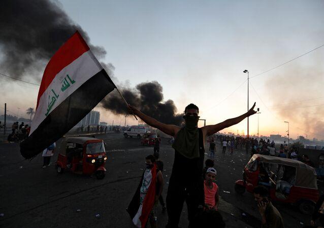 Irak'ın başkenti Bağdat'ta yeniden başlayan gösteriler