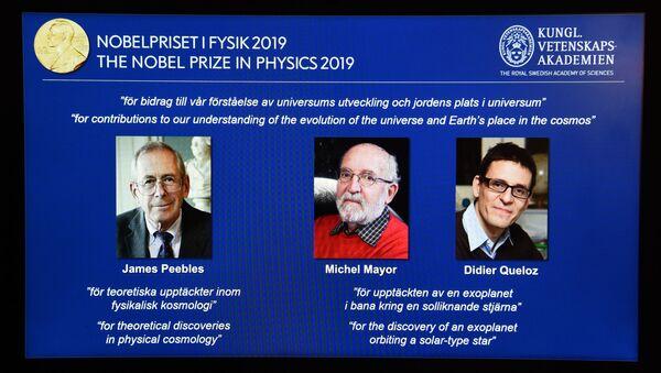 2019 Nobel Fizik Ödülü James Peebles ile Michel Mayor ve Didier Queloz'a verildi. - Sputnik Türkiye