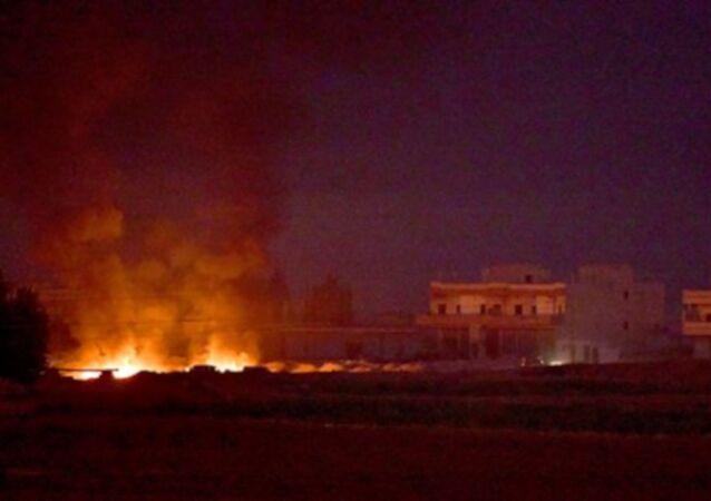Tel Abyad'daki hedefler vuruluyor