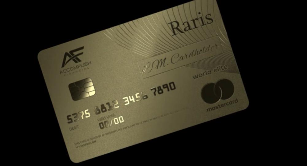 İngiltere'de dünyanın ilk saf altından banka kartı üretildi