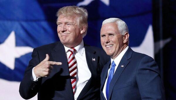Donald Trump ve yardımcısı Pence - Sputnik Türkiye