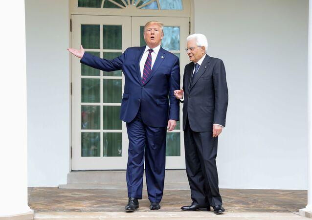 ABD Başkanı Donald Trump, İtalya Cumhurbaşkanı Sergio Mattarella ile Beyaz Saray'da yaptığı görüşme sonrası açıklamalarda bulundu.