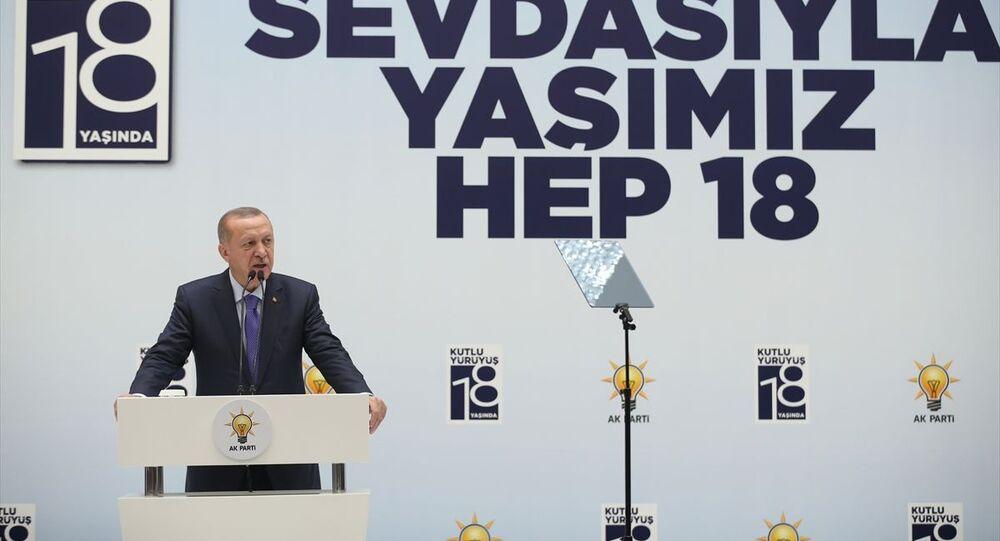 Türkiye Cumhurbaşkanı ve AK Parti Genel Başkanı Recep Tayyip Erdoğan, AK Parti Kayseri İl Başkanlığınca düzenlenen teşkilat yemeğine katılarak konuşma yaptı.