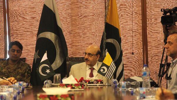 Pakistan kontrolündeki Azad Cammu ve Keşmir Cumhurbaşkanı Serdar Mesud Han - Sputnik Türkiye