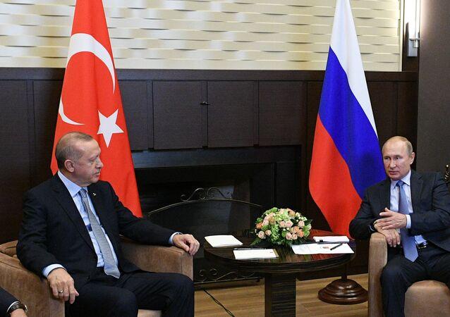 Vladimir Putin ve Recep Tayyip Erdoğan'ın