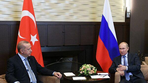 Vladimir Putin ve Recep Tayyip Erdoğan'ın  - Sputnik Türkiye