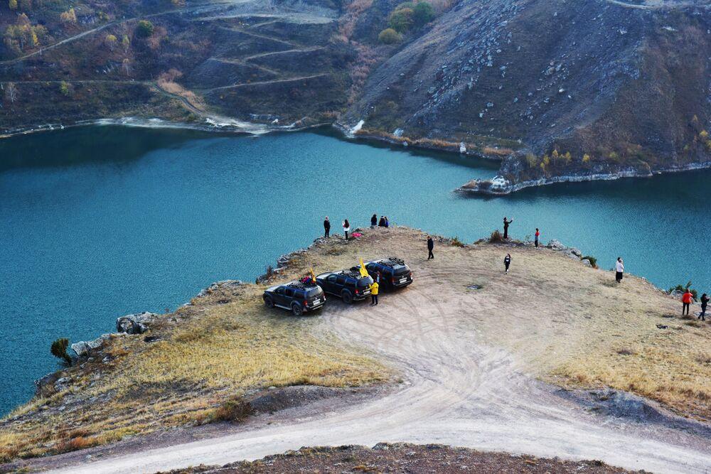 Kabardey-Balkarya'daki Ullu Gijgit Gölü.