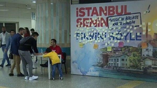 metro istasyonlarında 'post-it' duvarları - Sputnik Türkiye