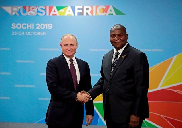 Rusya Devlet Başkanı Vladimir Putin - Orta Afrika Devlet Başkanı Faustin-Archange Touadera