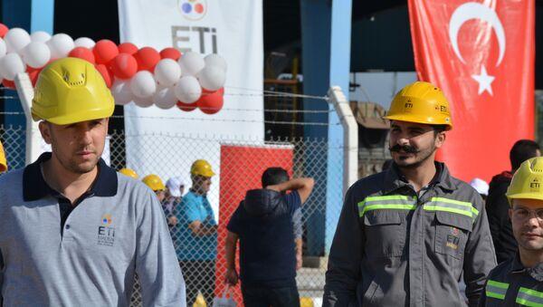 Türkiye'nin ilk bor karbür üretim tesisinin temel atma töreninden kareler - Sputnik Türkiye