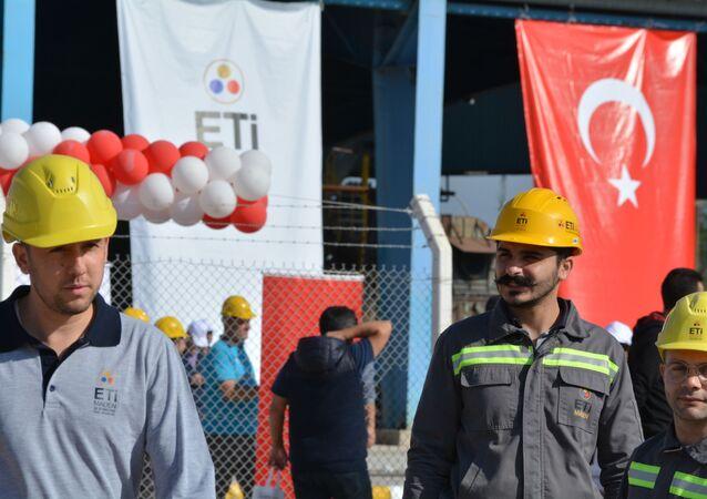 Türkiye'nin ilk bor karbür üretim tesisinin temel atma töreninden kareler