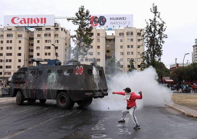 Şili'de protestolar