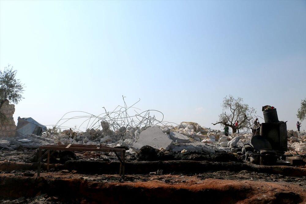 Bağdadi'nin öldürüldüğü iddia edilen operasyon İdlib'de gece yarısı gerçekleşmişti.