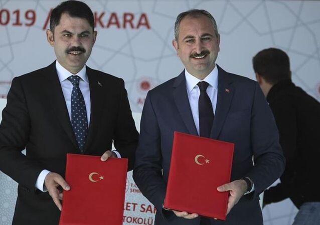 Çevre ve Şehircilik Bakanı Murat Kurum-Adalet Bakanı Abdulhamit Gül