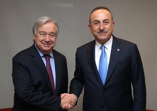 Dışişleri Bakanı Mevlüt Çavuşoğlu, Birleşmiş Milletler (BM) Genel Sekreteri Antonio Guterres