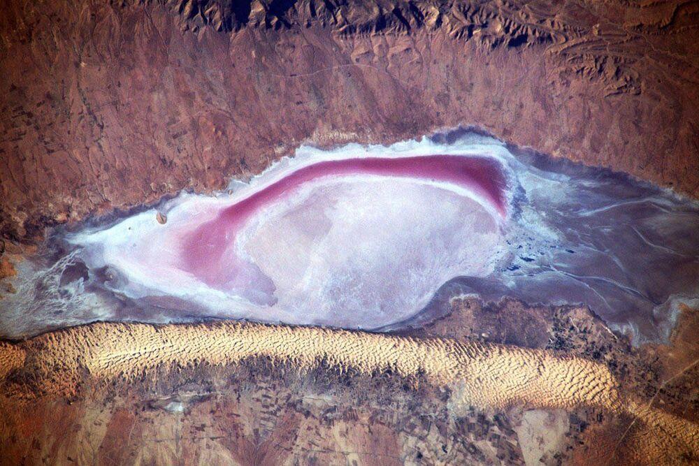 Uluslararası Uzay İstasyonu'ndan çekilen Afrika kıtasının manzarası.