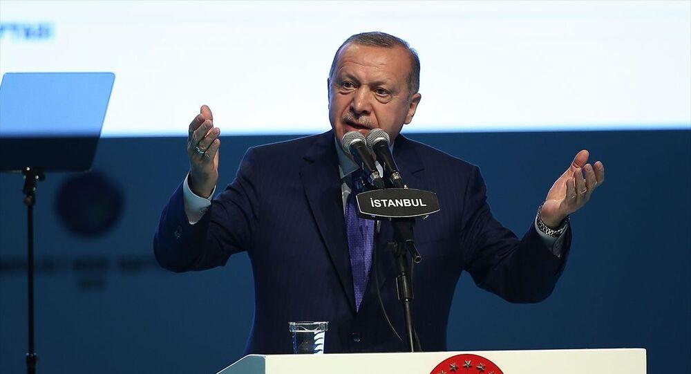 Türkiye Cumhurbaşkanı Recep Tayyip Erdoğan, Yahya Kemal Beyatlı Gösteri Merkezi'nde, Mevlid-i Nebi Haftası Açılış Programı'na katılarak konuşma yaptı.