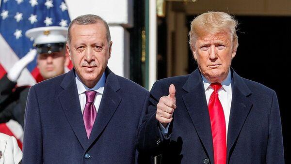 Donald Trump - Recep Tayyip Erdoğan - Sputnik Türkiye