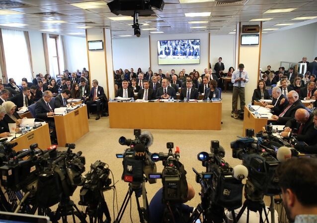 Dışişleri Bakanı Mevlüt Çavuşoğlu, TBMM Plan ve Bütçe Komisyonunda, Dışişleri Bakanlığı ve ilgili kurumlarının 2020 bütçesinin sunumunu yaptı.