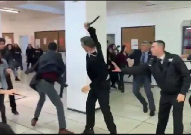 Mülkiye'de özel güvenlik öğrencilere saldırdı