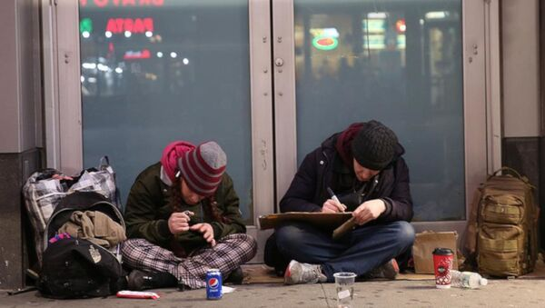ABD'deki evsizler - Sputnik Türkiye