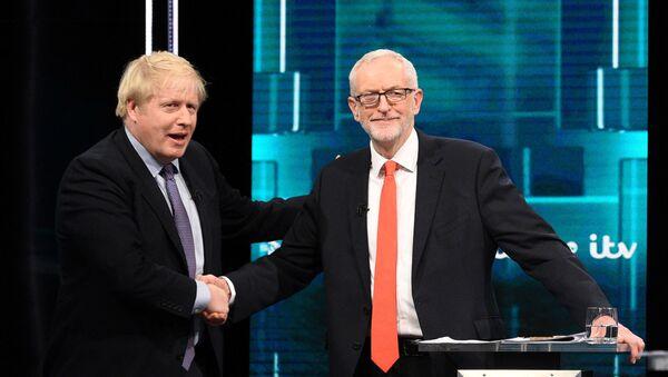 İngiltere'de liderlerin televizyondaki seçim tartışmasına Brexit damgası - Sputnik Türkiye
