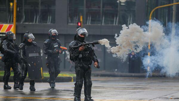 Kolombiya'da hükümet karşıtı protestolar - Sputnik Türkiye