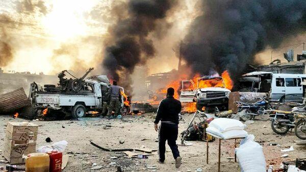 Rasulayn doğusundaki Telhalef kasabasında bomba yüklü araçla saldırı - Sputnik Türkiye