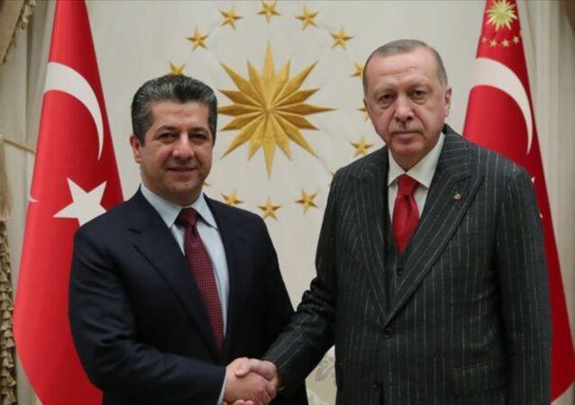 Türkiye Cumhurbaşkanı Recep Tayyip Erdoğan, Irak Kürt Bölgesel Yönetimi (IKBY) Başbakanı Mesrur Barzani'yi kabul etti.