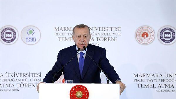 Recep Tayyip Erdoğan, Marmara Üniversitesi Recep Tayyip Erdoğan Külliyesi Temel Atma Töreni - Sputnik Türkiye