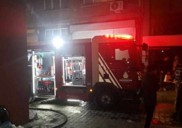 Beyoğlu'nda Masumiyet Müzesi'nde çıkan yangın söndürüldü