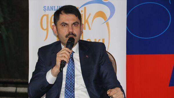 Çevre ve Şehircilik Bakanı Murat Kurum, Şanlıurfa'daki temasları kapsamında, partisinin Şanlıurfa Gençlik Kolları tarafından Eyyübiye Belediyesi Kitap Otağı'nda düzenlenen gençlik buluşması etkinliğine katıldı. - Sputnik Türkiye