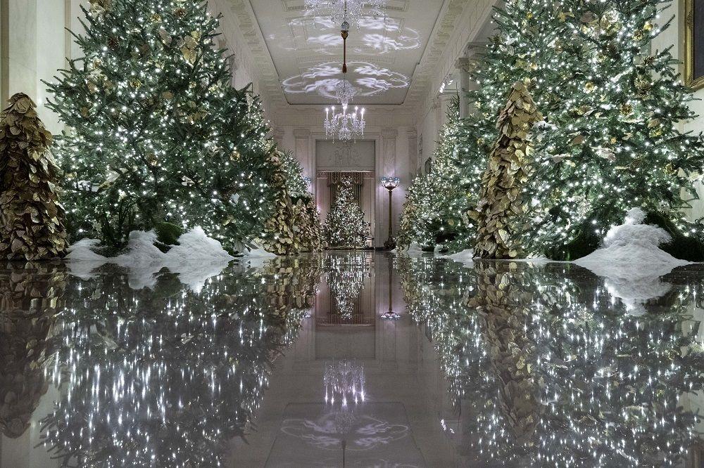 Bu yılki Noel süsleme etkinliklerine halktan gönüllüler de katıldı.  Melania Trump,  Beyaz Saray'ı 'Halkın Sarayı' olarak adlandırdı.