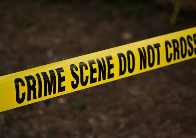 US police crime scene tape