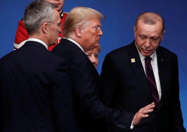 NATO Genel Başkanı Jens Stoltenberg- ABD Başkanı Donald Trump- Cumhurbaşkanı Recep Tayyip Erdoğan