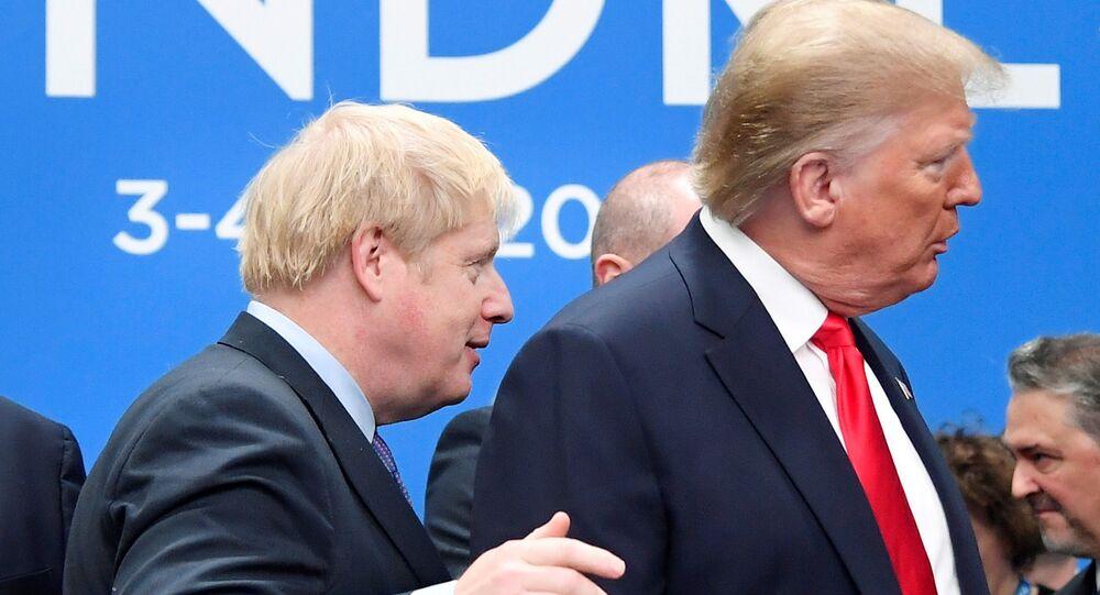 İngiltere Başbakanı Boris Johnson- ABD Başkanı Donald Trump