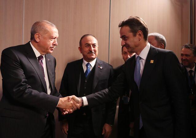 Yunanistan Başbakanı Kiriakos Miçotakis, Cumhurbaşkanı Erdoğan